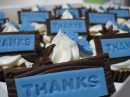 Cupcakes with gratitude
